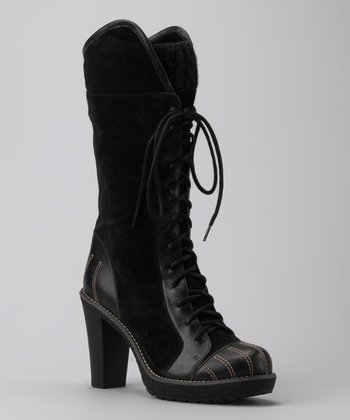Black Suede Delish Boot