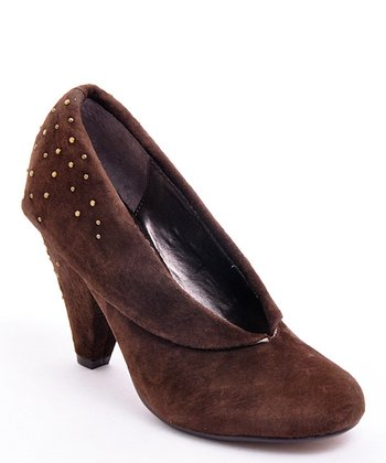 Dark Brown Suede First Date Pump