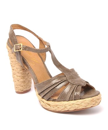 Taupe Leather Funify Sandal