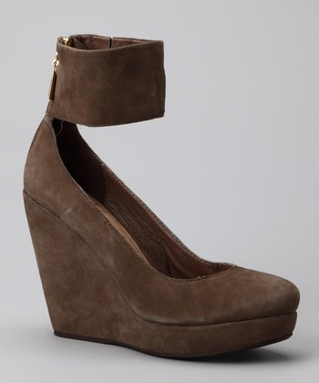 Taupe Suede Holster Wedge