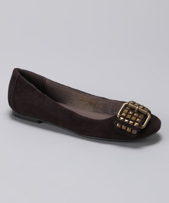 Brown Hopscotch Ballet Flat