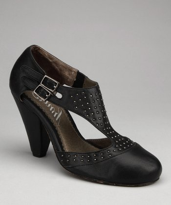 Black Hugs 'n' Kisses T-Strap Pump
