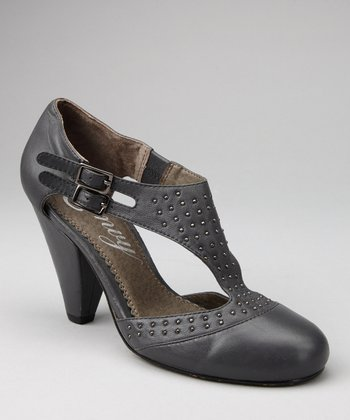 Gray Hugs 'n' Kisses T-Strap Pump