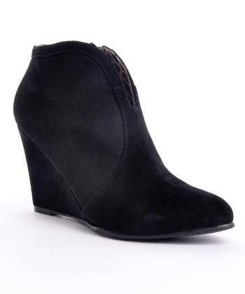 Black Lyka Wedge Bootie