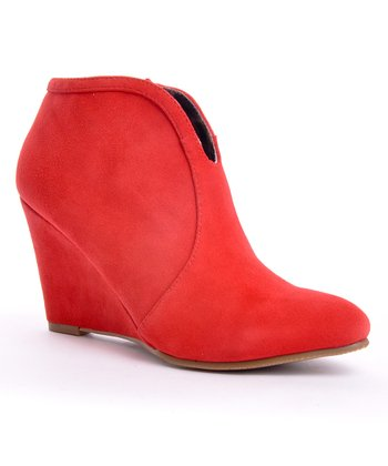 Red Lyka Wedge Bootie