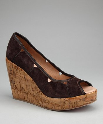 Brown Suede Mad House Wedge