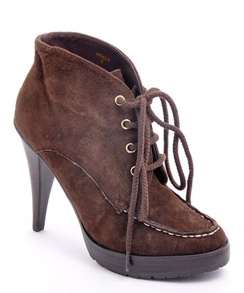 Dark Brown Suede Molly Bootie