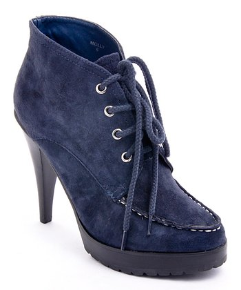 Navy Molly Bootie