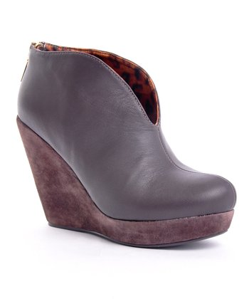 Brown Monica Wedge Bootie