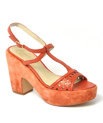 Coral Leather Primrose Sandal