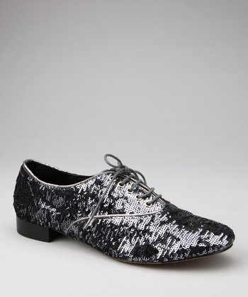 Black Sequin Salsa Oxford