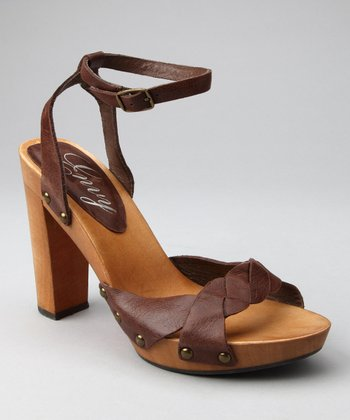 Brown Leather Sensational Sandal