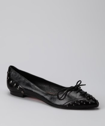 Black Spotty Dotty Flat