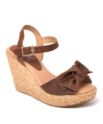 Brown Leather Spunky Sandal