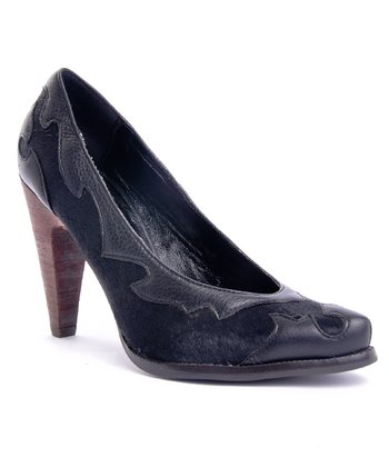 Black Calf Hair Sugar Baby Pump