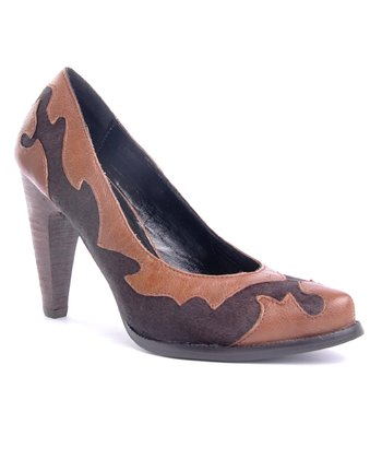Brown Calf Hair Sugar Baby Pump