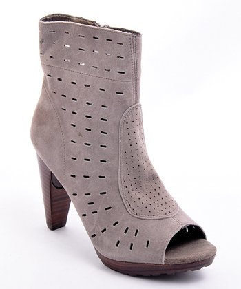 Khaki Throttle Peep-Toe Boot