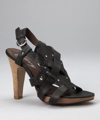 Black Tip-Toe Sandal