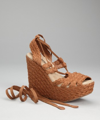 Brown Tween Espadrille