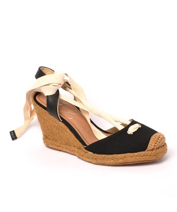 Black Wintergreen Espadrille