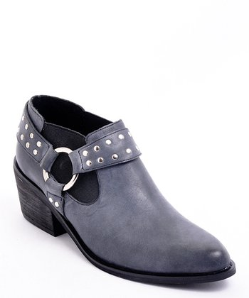 Black Yeehaw Ankle Boot