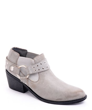 Gray Yeehaw Ankle Boot