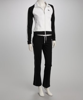 White Track Jacket & Pants
