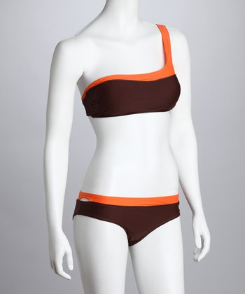 Brown The Rio Asymmetrical Bikini