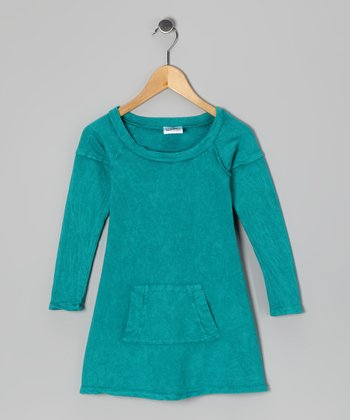 Teal Mineral Wash Pocket Dress