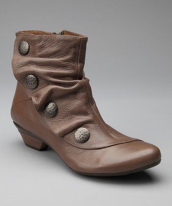Taupe Leather Soho Ankle Boot