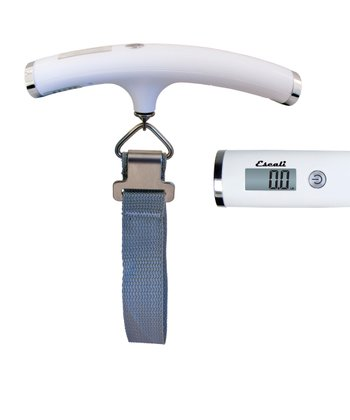 White Velo 110-Lb. Luggage Scale