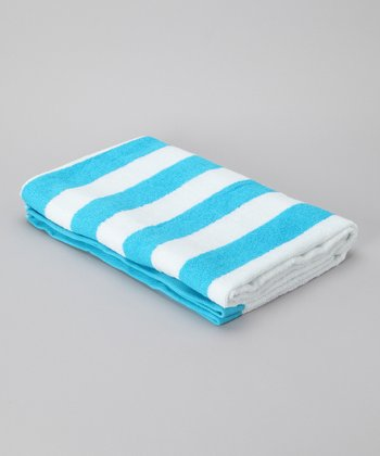 Teal Stripe Havana Cabana Towel - Set of Two