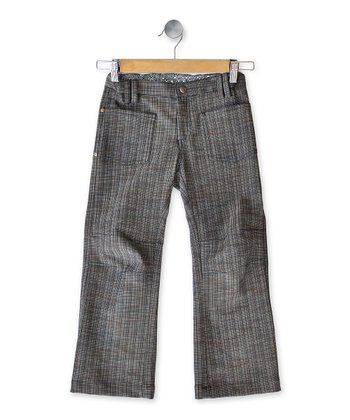 Gray Plaid Jeans - Toddler & Kids
