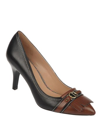 Black & Banana Bread Ilene Pump