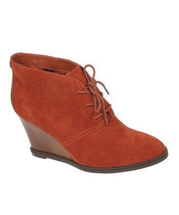 Terra Cotta Zita Wedge Bootie