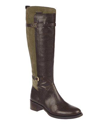 Chocolate & Green Colton Boot