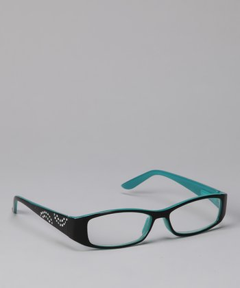Etienne Aigner Black & Teal Bell Readers