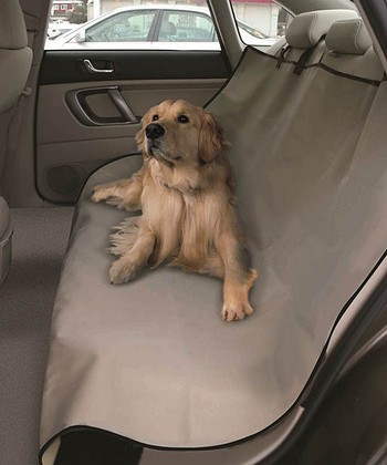 Beige Waterproof Pet Car Seat Cover