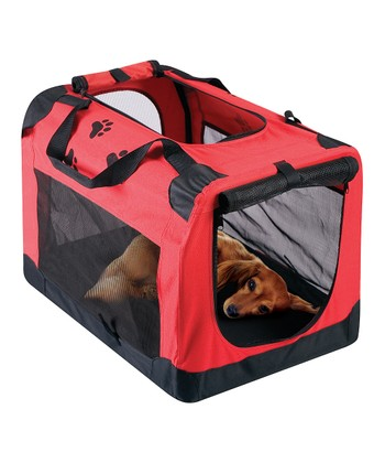 Red Portable Pet Travel Crate