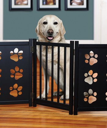 Paw Print Wooden Gate