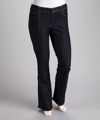 Dark Blue Bootcut Jeans - Plus