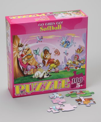 Softball Go Girls Go! Puzzle