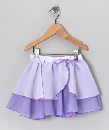Lilac Two-Tier Skirt - Girls