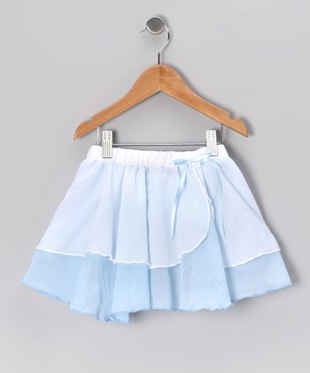 Light Blue Two-Tier Skirt - Girls