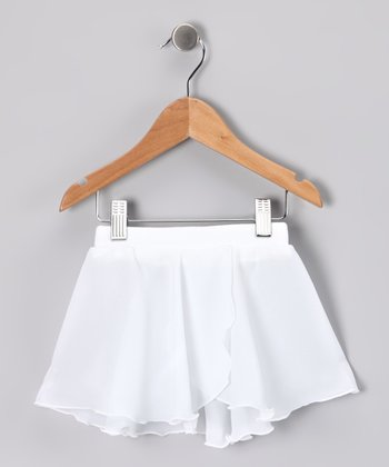 White Pull-On Skirt - Toddler & Girls