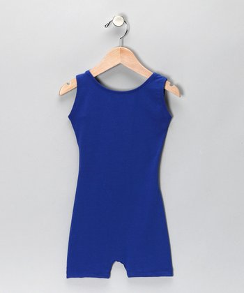 Royal Blue Stretch Biketard - Girls