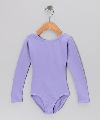 Lilac Long-Sleeve Leotard - Toddler & Girls