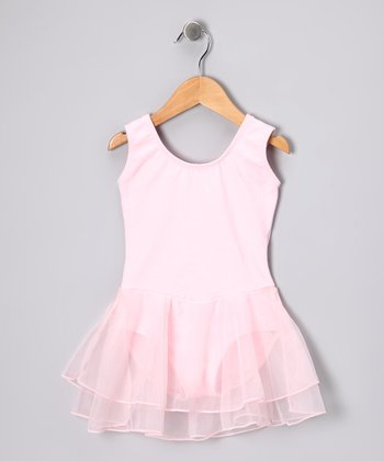 Pink Skirted Leotard - Toddler & Girls