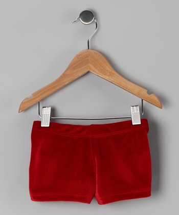Eurotard Red Velvet Shorts - Girls