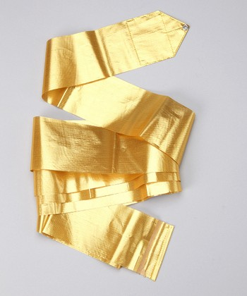 Gold Metallic Streamer